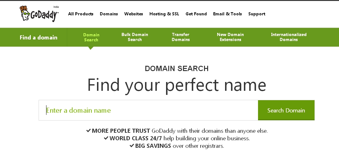 Godaddy-search-register-domain-name