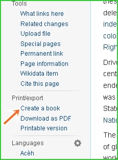 Wikipedia-create-a-book-option