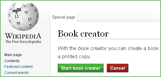 Wikipedia-start-book-creator