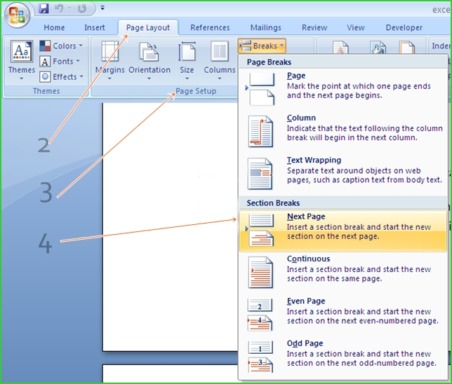 change-single-page-orientation-MS-office-2007