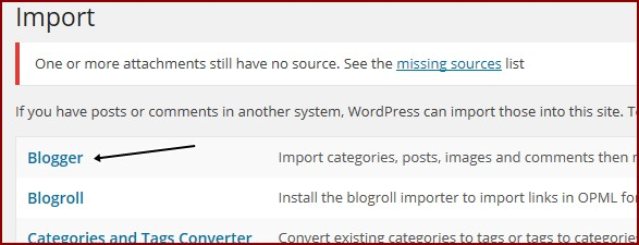 import-blogger-tool-in-wordpress