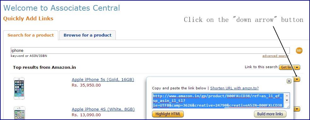 Create-link-Amazon-affiliate-program