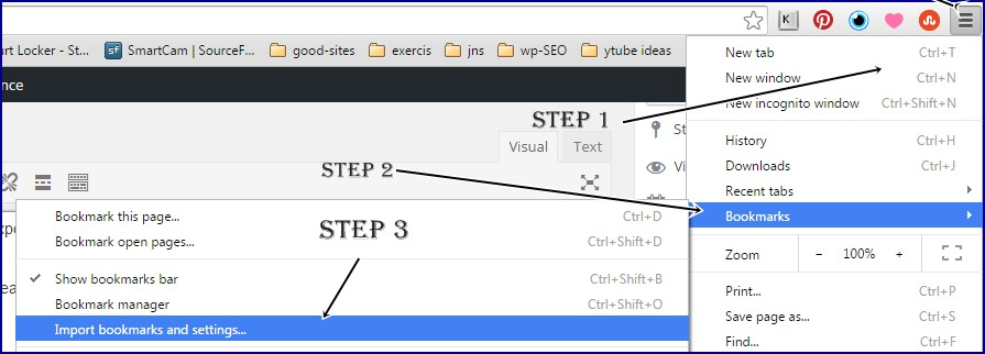 GOOGLE-chrome-import-export-bookmarks settings