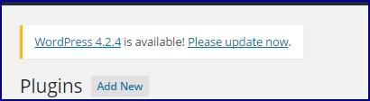 wordpress-update-message-on-wp-admin-page