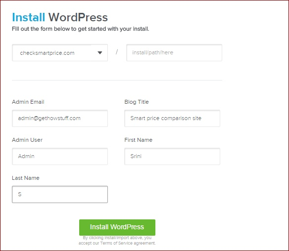 Installing-wordpress-GoDaddy-Domain-on-HostGator