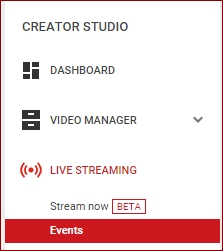 YouTube-Livestreaming-Events-section