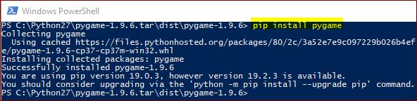 installing-pygame-with-powershell-command