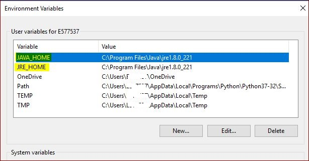 java-user-variables-path-on-environment-variables-window