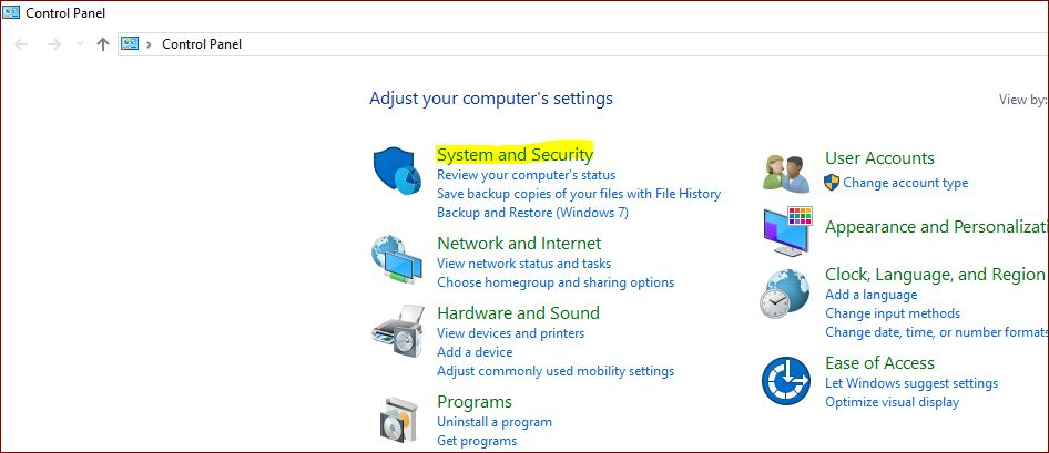 system-and-security-on-control-panel