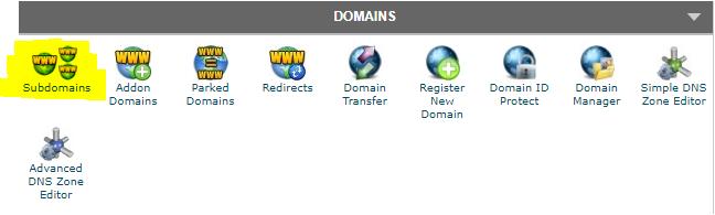 sub-domains-cPanel