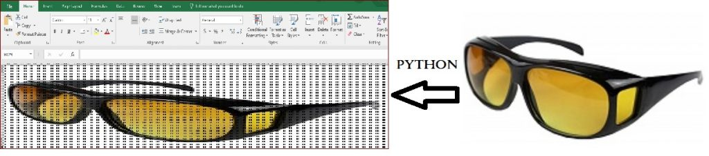 inserting image pixels to excel sheet in python